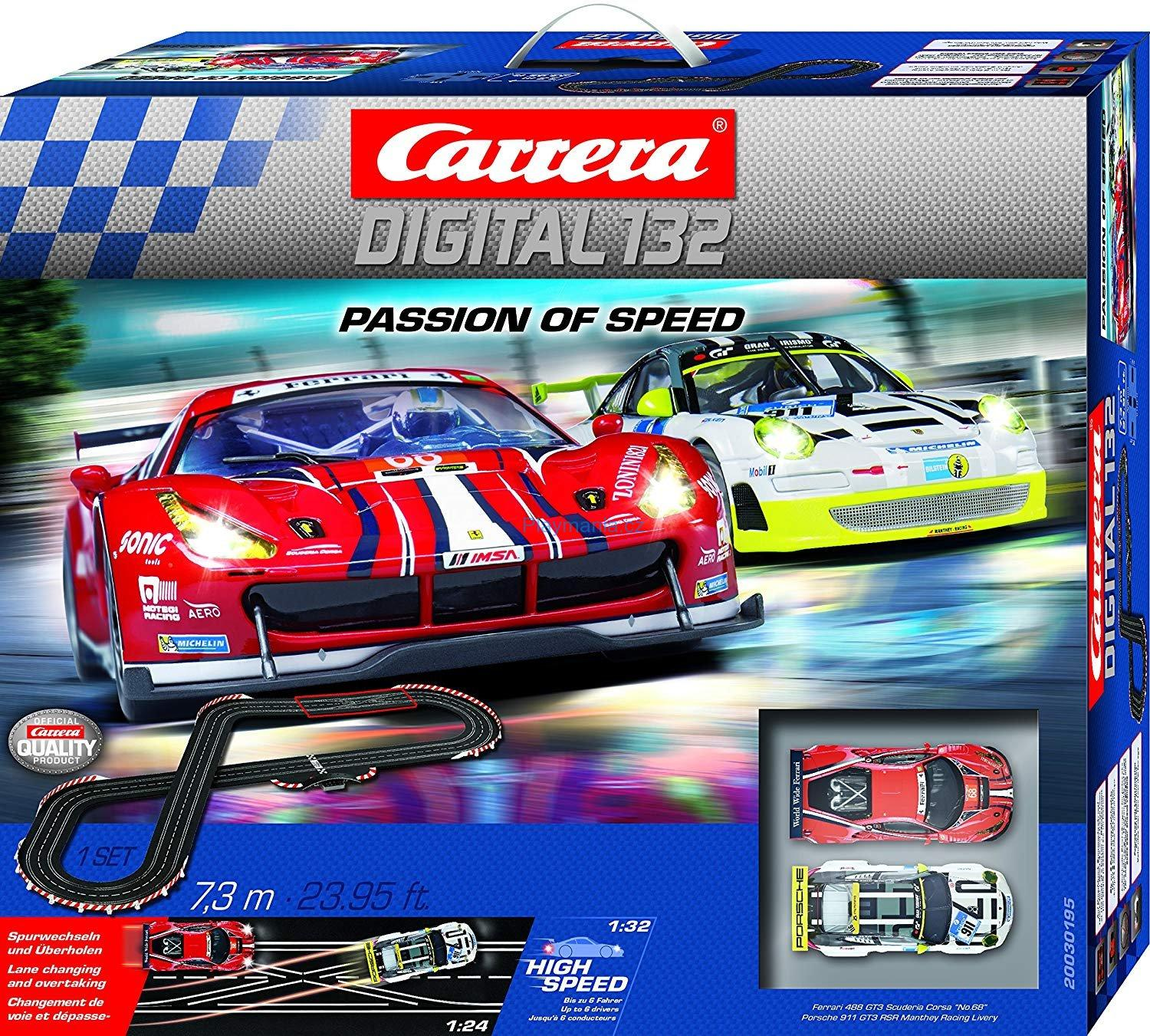 CARRERA DIGITAL 132 PASSION OF SPEED ZÁVODNÍ DRÁHA