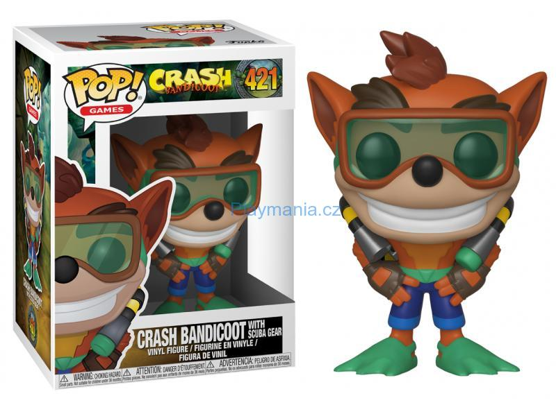 FUNKO POP! ® CRASH BANDICOOT WITH SCUBA GEAR